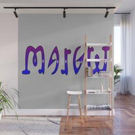 Margret (Ambigram) Namendreher Wall Mural