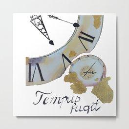 Tempus fugit - Time flies Metal Print