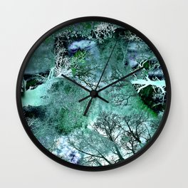 My Life in the Green Bush of Ghosts Wall Clock