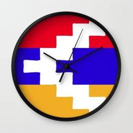 Nagorno Karabakh Republic flag emblem Wall Clock