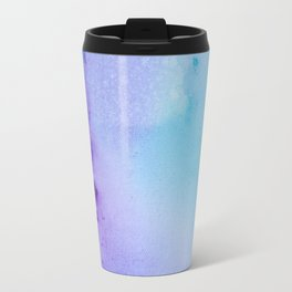 Abstract Watercolor Art Blue And Purple Modern Painting Travel Mug