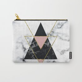 Geo glam marble Carry-All Pouch