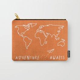Adventure Map - Retro Orange Carry-All Pouch