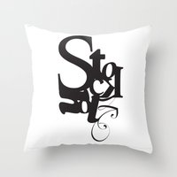 stockholm Throw Pillows featuring Stockholm by Nils Gustafsson