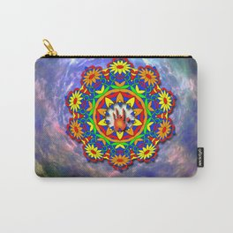 Jerry Hand in a Daisy Mandala Carry-All Pouch