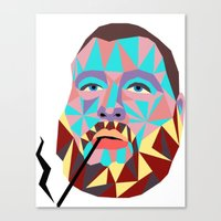 action bronson Canvas Prints featuring Action Bronson  by Fisch Design