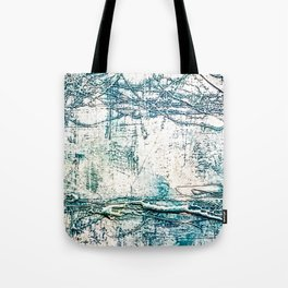 Subtle Blue Textured Acrylic Painting Tote Bag