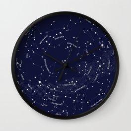 Constellation Map - Indigo Wall Clock