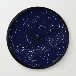 Constellation Map - Indigo Wall Clock