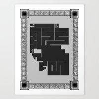 hydra Art Prints featuring Hydra by necroMatador