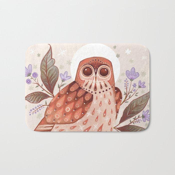 Owl Blooms Bath Mat