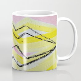 Etheral Black Lightning in Yellow and Pink Flash Field Coffee Mug