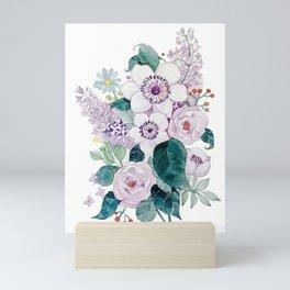 Purple flowers Mini Art Print