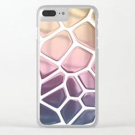 Chrome Rainbow Giraffe Clear iPhone Case