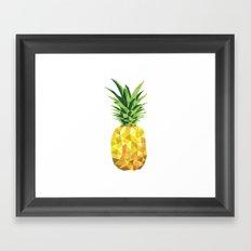 Pineapple Abstract Triangular  Framed Art Print