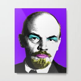 Ooh Mr Lenin - Purple Metal Print
