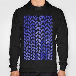 Cute watercolor knitting pattern - blue Hoody