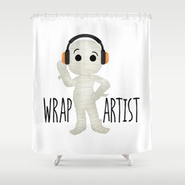 Wrap Artist | Mummy Shower Curtain