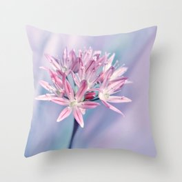 Allium pink 014 Throw Pillow