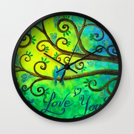 I Love You Hearts by Jan Marvin Wall Clock