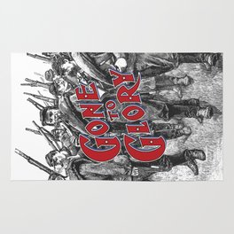 Gone To Glory / Vintage typography redrawn and repurposed Rug