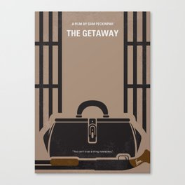 No952 My The Getaway minimal movie poster Canvas Print