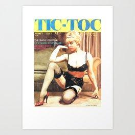 Tic-Toc - Vintage Magazine Covers Series Art Print