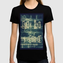 Slam 1 Industries Ransom Note Blue Tone T-shirt