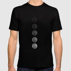Moon  Black Mens Fitted Tee LARGE