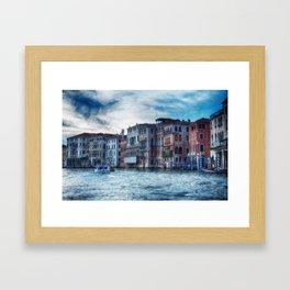 Grand Canal at Dusk, Venice, Italy Framed Art Print