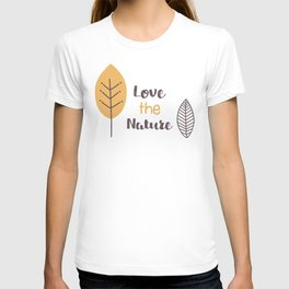Leaves on Texture T-shirt