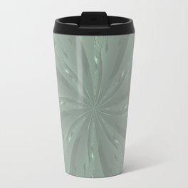 Lost in the Laurels Fractal Bloom Travel Mug