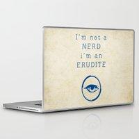 divergent Laptop & iPad Skins featuring NERD? ERUDITE - DIVERGENT by MarcoMellark