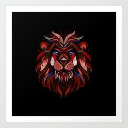 Crazy Lion XVII Art Print