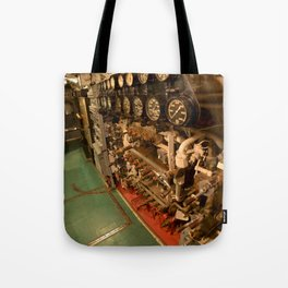 The USS Batfish SS-310 - In the Pump Room, below the Conning Tower Tote Bag