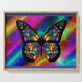 Shimmer Butterfly Serving Tray