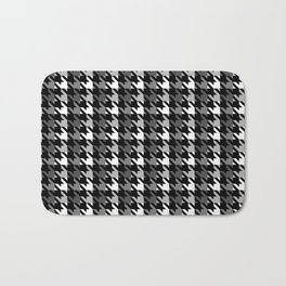 Houndstooth pattern with a shadow Bath Mat
