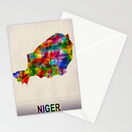 Niger Map in Watercolor Stationery Cards