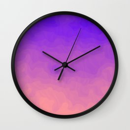Pink and Purple Ombre - Swirly - Flipped Wall Clock