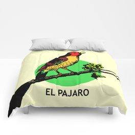 El Pajaro Mexican Loteria Card Comforters