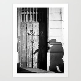 Photographer's Shadow Art Print