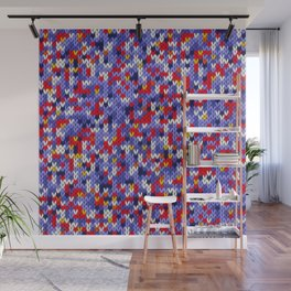 Knitted multicolor pattern 2 Wall Mural