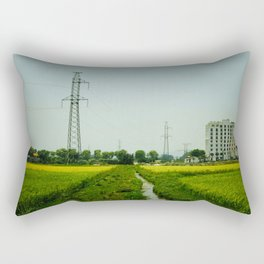 Rice Paddy in Tam Coc Rectangular Pillow