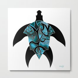 Nautic Turtle Metal Print