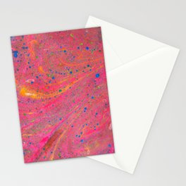 Marbling 3, Tie Dye Effect Abstract Pattern Stationery Cards