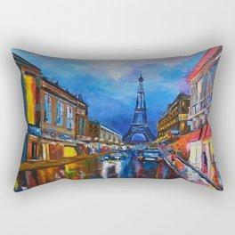 Eiffel Tower Street Rectangular Pillow