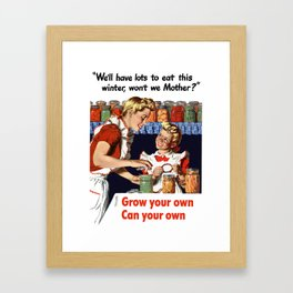 Grow Your Own - Can Your Own Framed Art Print