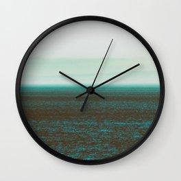 Sea front green Wall Clock
