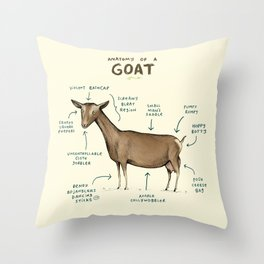 Anatomy of a Goat Throw Pillow