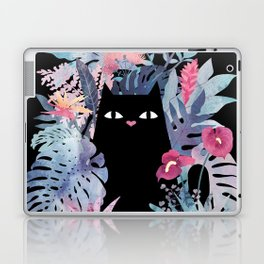 Popoki (Pastel Black Velvet) Laptop & iPad Skin